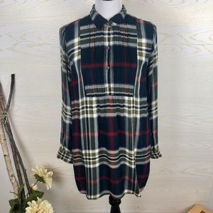 Abercrombie & Fitch Plaid Cozy Flannel Tunic Top